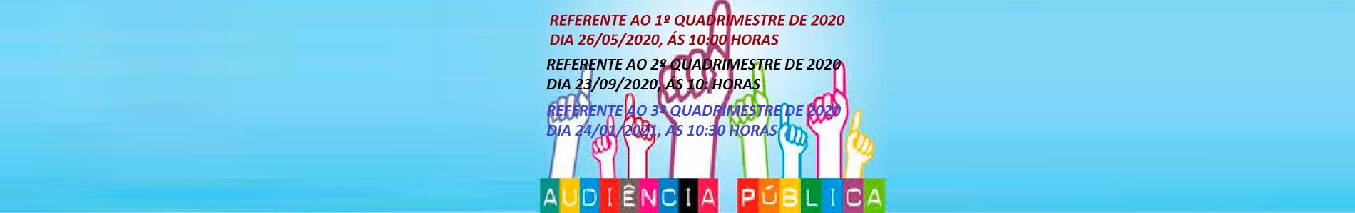 AUDIENCIA PUBLICA DO 3º QUADRIMESTRE DE 2020 DO CONSÓRCIO INTERMUNICIPAL DE SAÚDE DE CAMPO MOURÃO - CIS-COMCAM